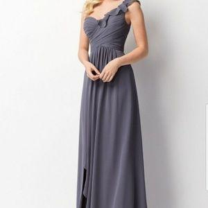 Wtoo Pewter Bridesmaid Dress #201 Sz. 6